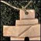 Collier ou pendantif en cornes de caribous - * Art inuït /Inuit Art