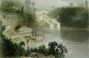 Locks on the Rideau Canal - Bartlett, W. H.